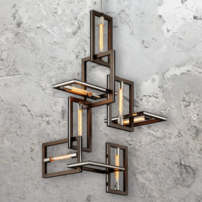 7 Light Contemporary Interlocking Pendant Lights