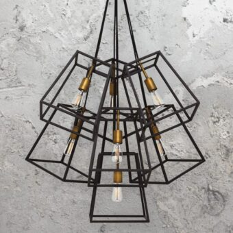 7 Light Minimalist Bronze Vintage Chandelier