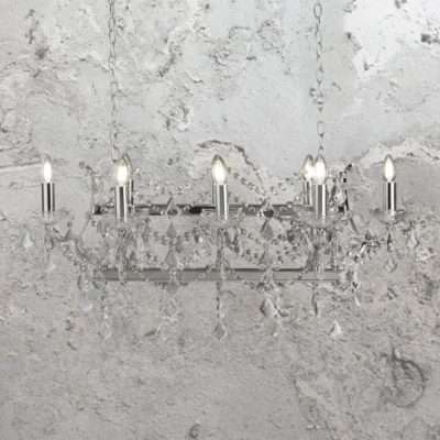8 Light Crystal Island Chandelier