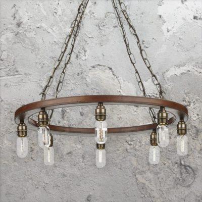 8 Light Rustic Ring Chandelier