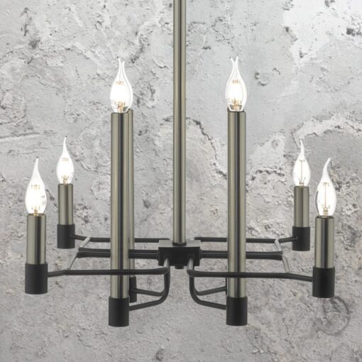8 Light Satin Nickel Chandelier