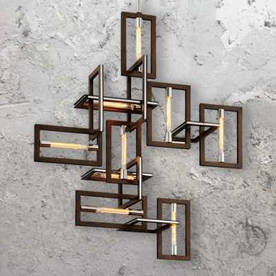 9 Light Contemporary Interlocking Pendant Lights