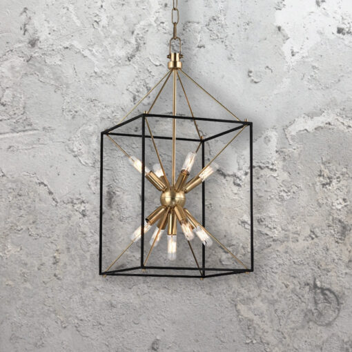 9 Light Sputnik Lantern Chandelier