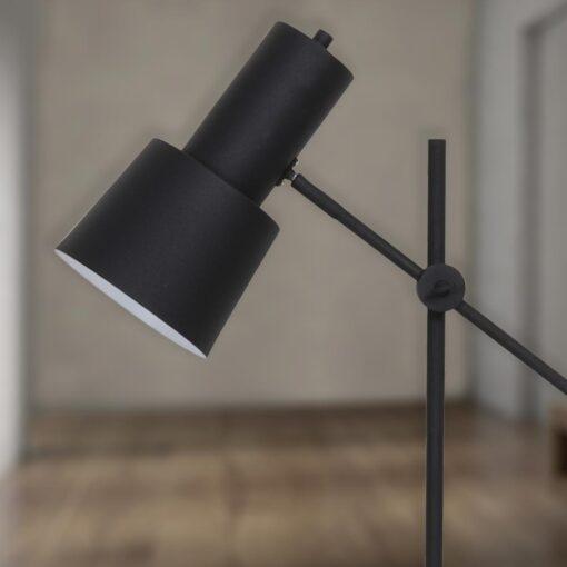 Adjustable Black Industrial Floor Lamp