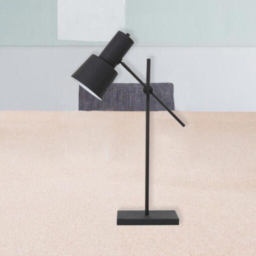 Adjustable Black Industrial Table Lamp