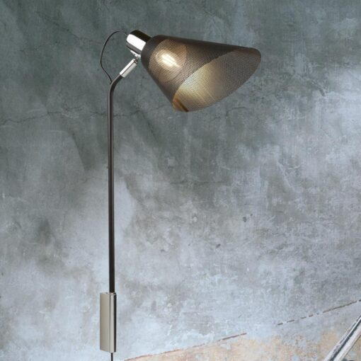 Adjustable Black Mesh Wall Light