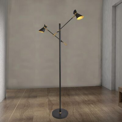 Adjustable Gold Double Floor Lamp