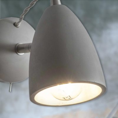 Adjustable Grey Concrete Wall Light