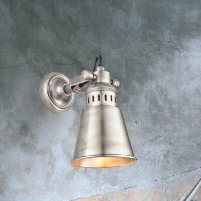 Industrial Silver Wall Light,Adjustable Silver Wall Light,Vintage Silver Wall Light