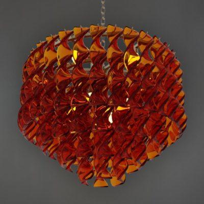 Amber Coloured Acrylic Chandelier