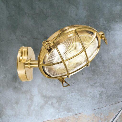 Angled Round Bulkhead Light
