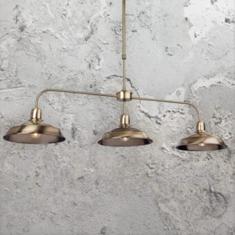 Antique Brass 3 Light Pendant