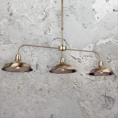 Antique Brass 3 Light Pendant