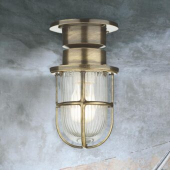 Antique Brass Bulkhead Ceiling Light