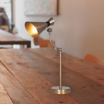 Antique Brass Conical Table Lamp