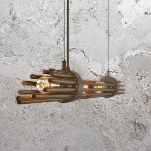 Antique Brass Contemporary Linear Chandelier