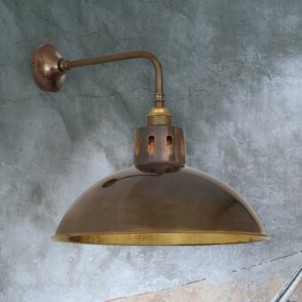 Antique Brass Dome Wall Light