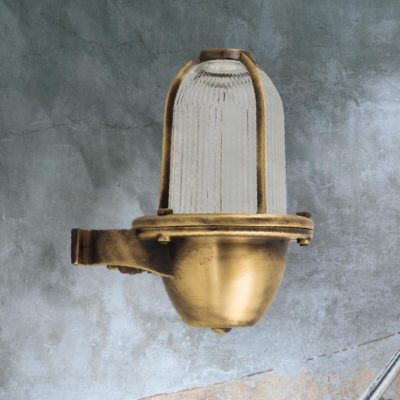 Antique Brass Exterior Coastal Wall Light