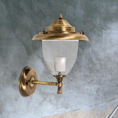Antique Brass Exterior Sconce Lantern