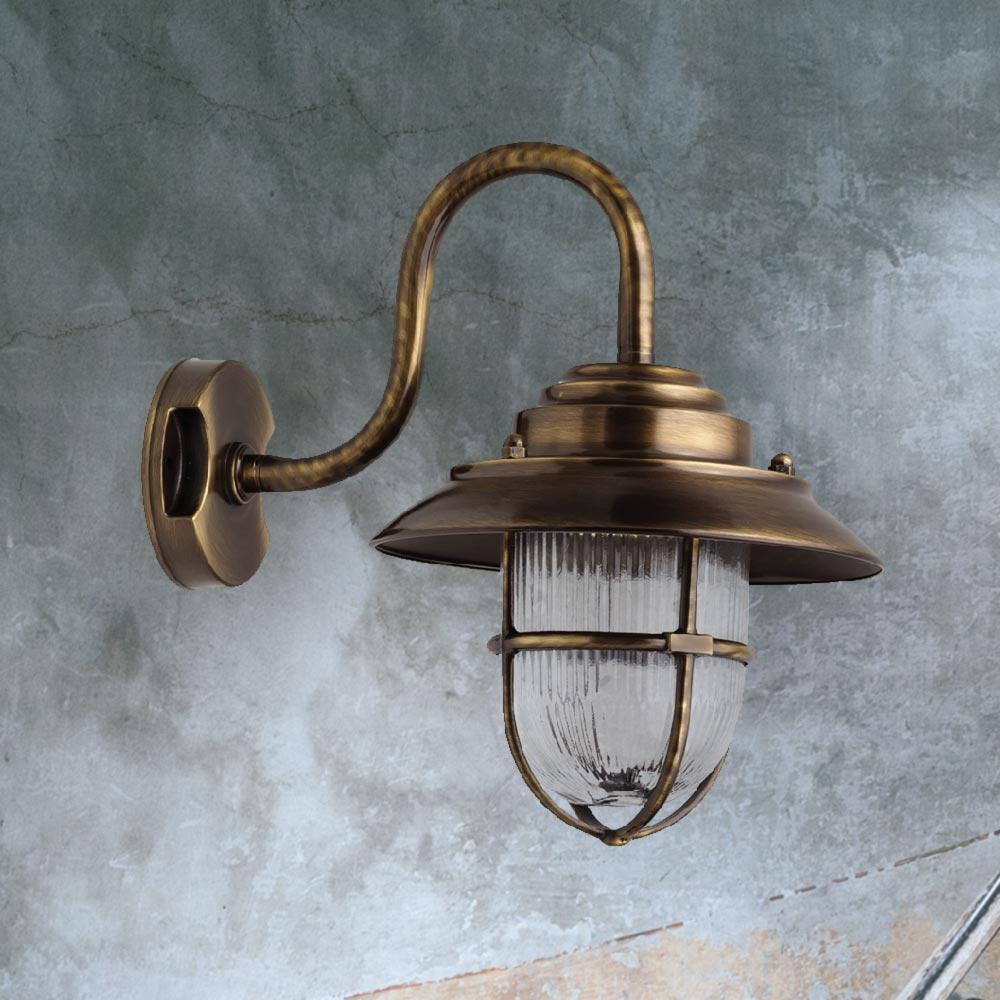 Exterior Swan Neck Wall Lantern Cl 39118 E2 Contract Lighting Uk