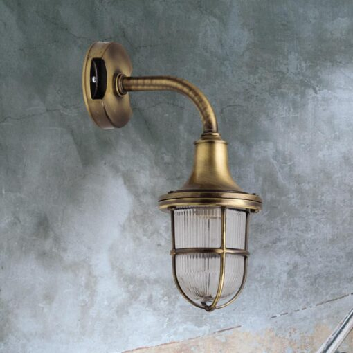 Antique Brass Exterior Wall Light