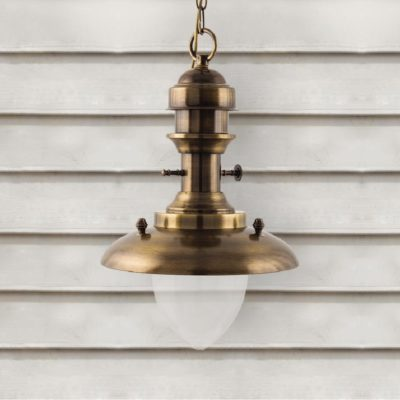 Antique Brass Fisherman Lantern Pendant Light