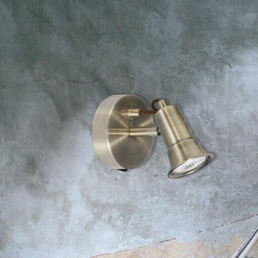 Antique Brass GU10 Spotlight