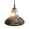 Antique Brass Glass Pendant Light,Industrial Traditional Glass Pendant Light