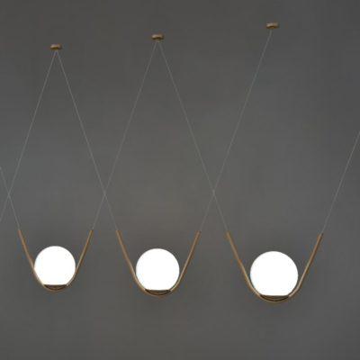 Antique Brass Globe Pendant Feature Lights