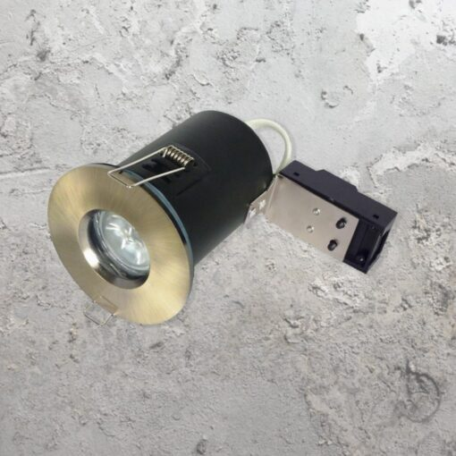 Antique Brass IP65 Fire Rated Downlight