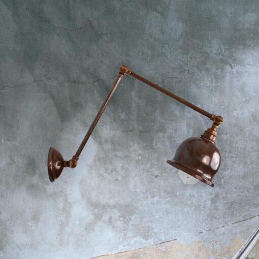 Antique Brass Industrial Extendable Wall Light