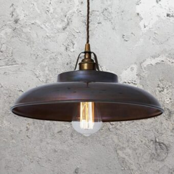 Antique Brass Industrial Farmhouse Pendant Light