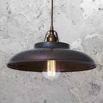 Antique Brass Industrial Farmhouse Pendant Light