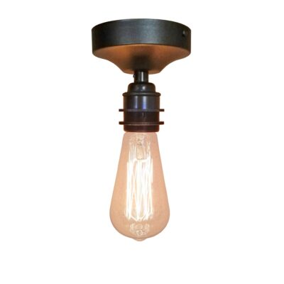 Antique Brass Industrial Flush Ceiling Light