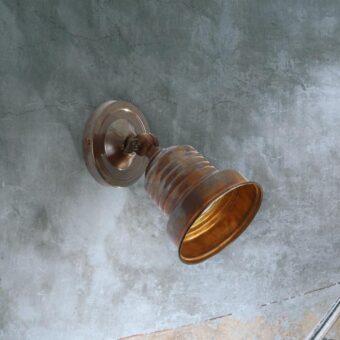 Antique Brass Industrial Spotlight