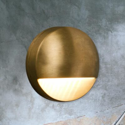 Antique Brass LED External Wall Light