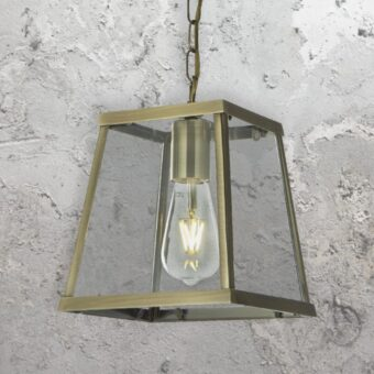 Antique Brass Lantern Pendant Light