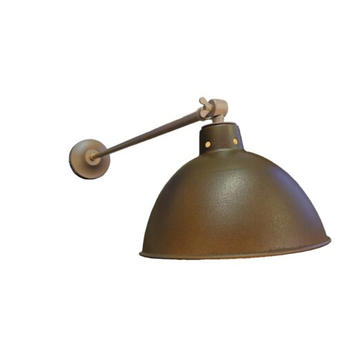 Industrial Antique Brass Long Arm Wall Light