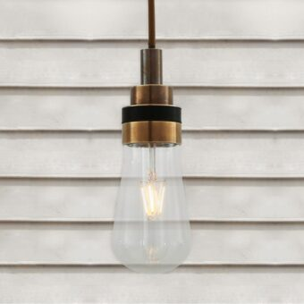 Antique Brass Minimal Outdoor Pendant Light