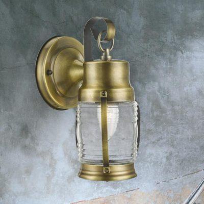 Antique Brass Nautical Wall Lantern