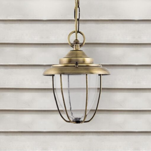 Antique Brass Outdoor Hanging Lantern