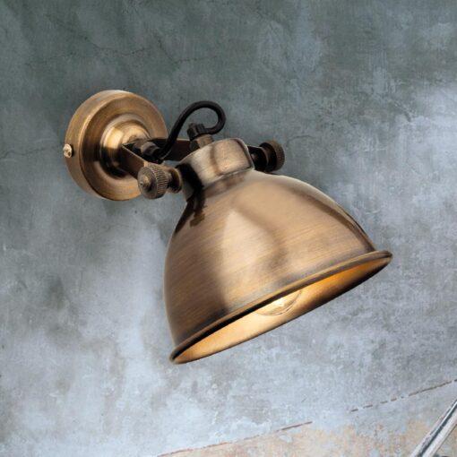 Antique Brass Single Spotlight