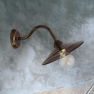 Antique Brass Swan Neck Wall Light