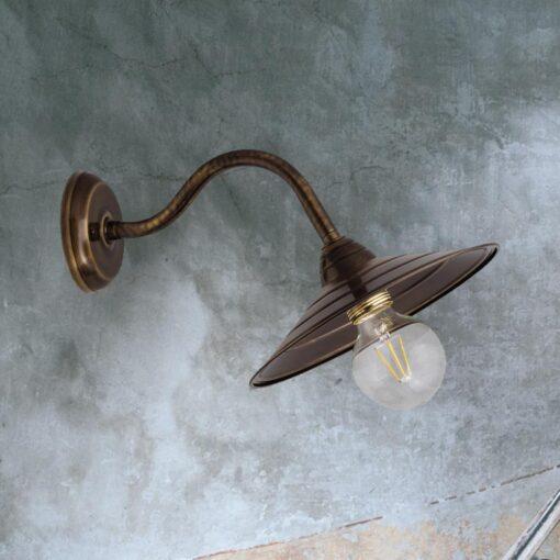 Antique Brass Swan Neck Wall Light