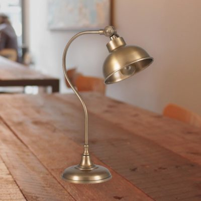 Antique Brass Task Table Lamp