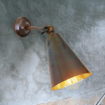 Antique Brass Vintage Adjustable Wall Light