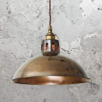 Antique Brass Vintage Dome Pendant Light