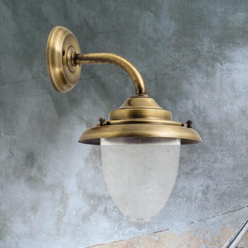 Antique Brass Wall Lantern