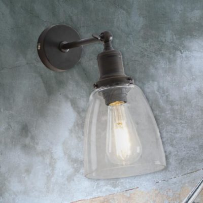 Antique Bronze Bell Glass Wall Light