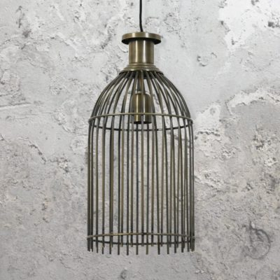 Antique Bronze Birdcage Pendant Light